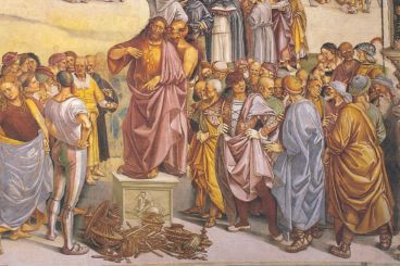 Luca Signorelli, Prédication et Actes de l'Antéchrist
