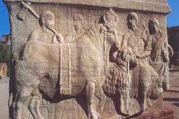 La «base des Décennales» (pour un monument célébrant la Tétrarchie), Forum romain.