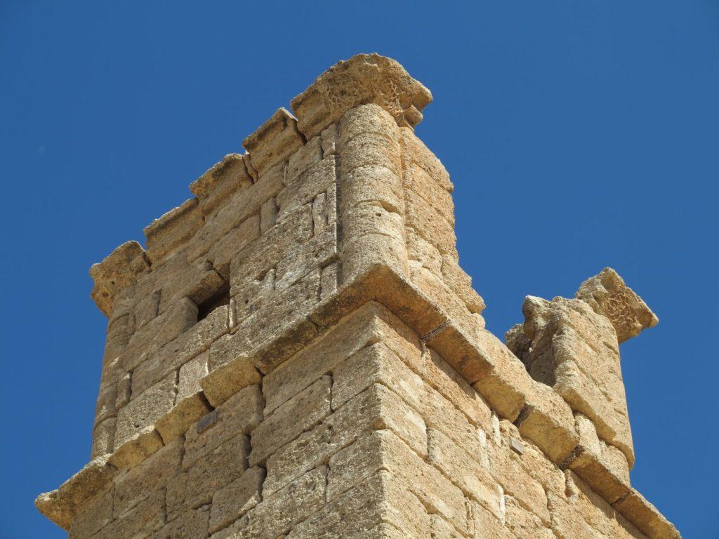 Décor de la partie supérieure de la Tour du Stylite, Umm, ar-Rasas, Jordanie